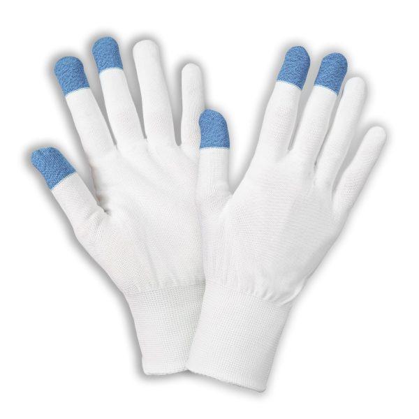 Három ujjvégen carbonszálas munkavédelmi kesztyű